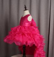 Trailing dress flower girl tuxedo small dress