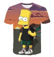 Men's 3D Digital Print Simpson Short Sleeve T-Shirt