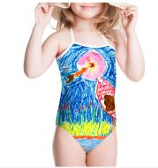 Custom one-piece girls swimwear