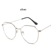 Polygonal glasses frame