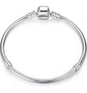 Smooth Cufflinks S925 Silver Fashion Basic Bracelet