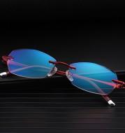 Diamond-cut reading glasses