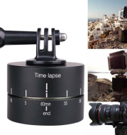 lapse 360 Degree Auto Rotate Camera Tripod Head Base 360 Rotating Timelapse for Gopro Camera SLR For iphone