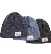 Autumn and winter new double-layer inner cotton plus velvet cloth headgear hat