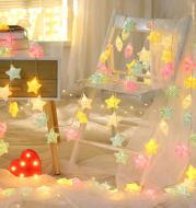 Led lights flashing lights lights stars live background ins stars lights girls heart room layout bedroom decoration