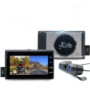 1080P HD locomotive motorcycle driving recorder Split-type front and rear waterproof double lens riding recorder