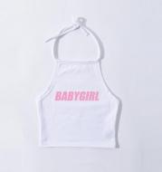 Baby girl hanging neck tether strap vest bellyband backless sling soft sister Lolita lolita