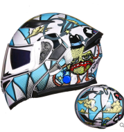 GXT motorcycle helmet men and women double lens full cover full face helmet anti-fog four seasons Bluetooth with a collar