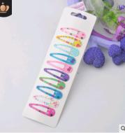 Children's water drop BB clip 5 cm solid color thick BB clip star love printing BB clip Liu seaside clip