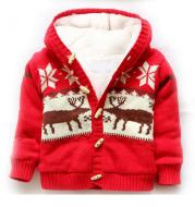 Hooded plus velvet sweater
