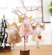 Christmas angel plush pendant