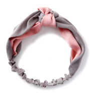 Two-color stitching Chinese knot wide-brimmed cross hair band retro satin middle knotted color headband headband