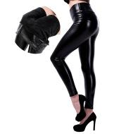 Slim high waist leather pants