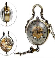 Crystal ball mechanical pocket watch