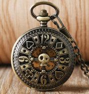 Shantou carved pocket watch