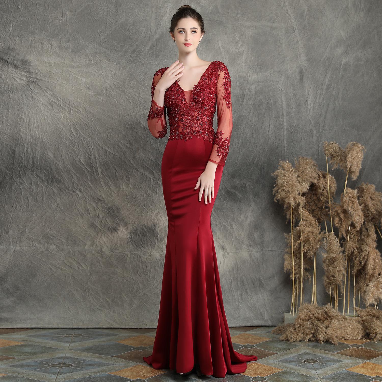 1364152326909 Long-sleeved fishtail skirt