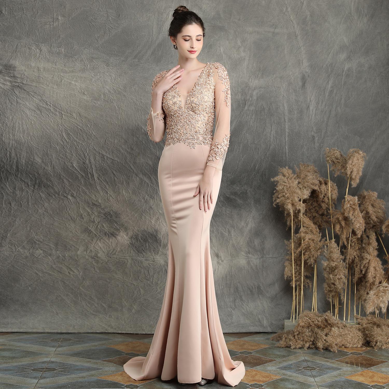 2190403524095 Long-sleeved fishtail skirt