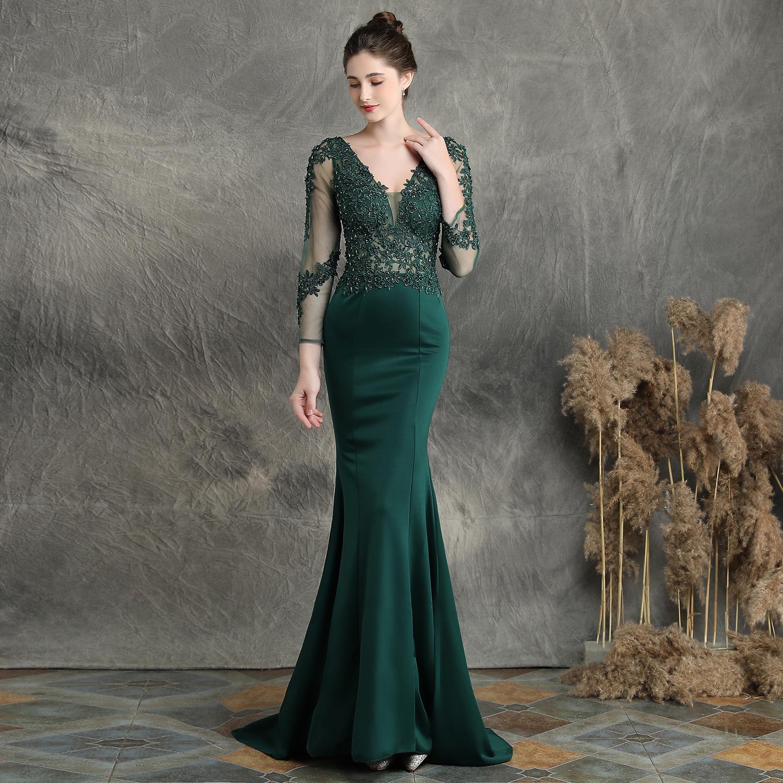 35374487554913 Long-sleeved fishtail skirt