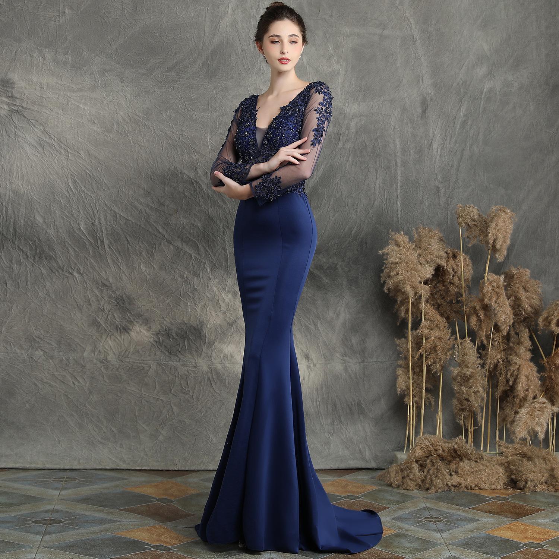 54890234952 Long-sleeved fishtail skirt
