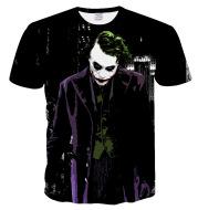3D Batman Joker Print Short Sleeve T-Shirt