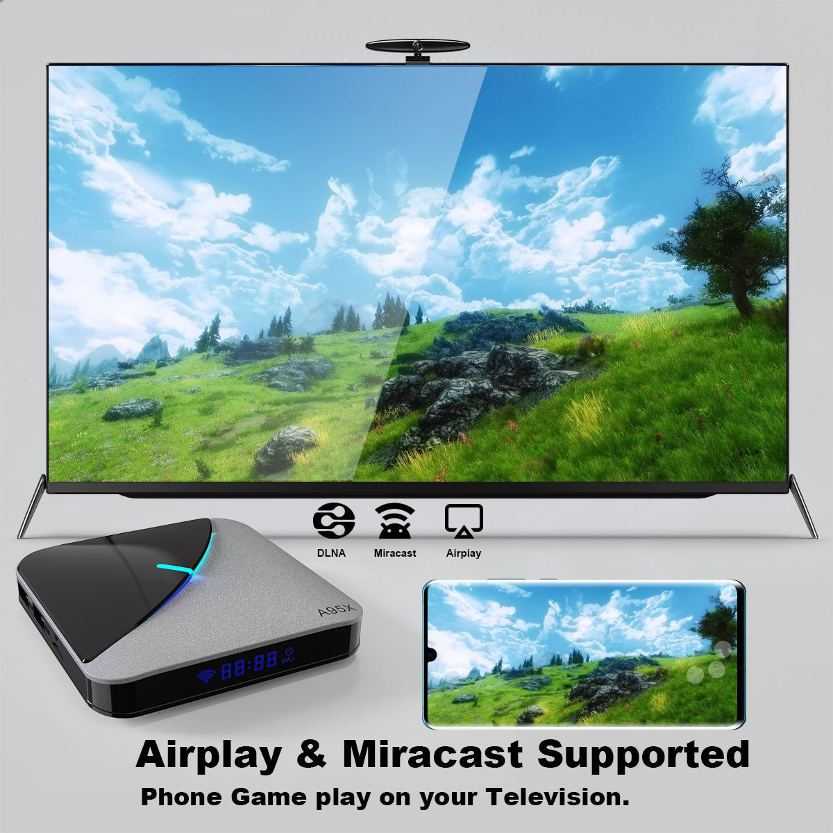 airplay and miracast supported