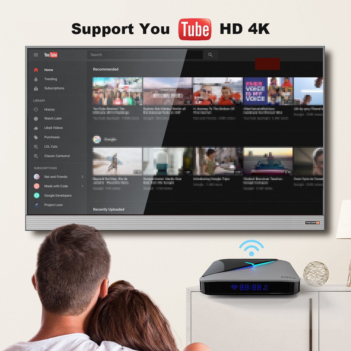 Support you tube HD
