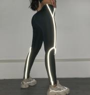 Reflective flash women fitness leggings