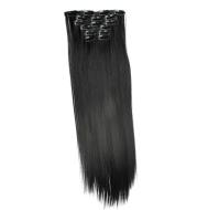 Chemical fiber hair extension piece 16 clip hair wig piece straight hair 6 piece set hair clip in