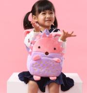 Kindergarten Children Shoulder Backpack Baby Furry Shoulder Pack