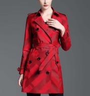 Tartan waterproof trench coat