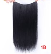 """24"""" Invisible Wire No Clips In Hair Extensions Secret Fish Line Hairpieces Synthetic Straight Wavy Hair Extensions"""