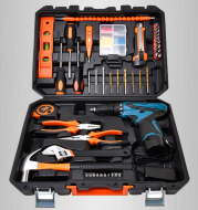 Toolbox Set Multifunctional Multimeter Household Hardware Woodworking Manual Electric Drill Set