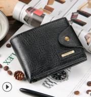 European and American casual men's wallet multi-function short wallet