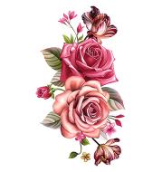 Large Flower Body Tattoo