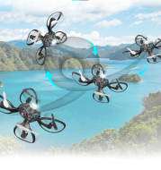 Folding gesture control aircraft four-axis aerial photography