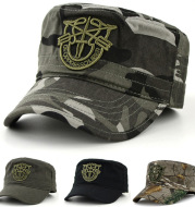 Camouflage military cap flat hat