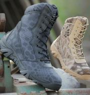 Python pattern desert tactical boots