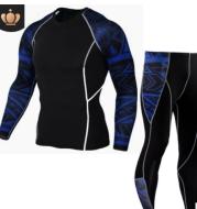 Men's Sports Suit Tights Long Sleeve Sports Men's Fitness T-shirt Quick-drying Super Elastic PRO Set