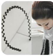 Korean hair accessories unisex wavy headband headband Europe and America iron tide black wide-brimmed hair ring small jewelry