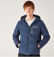 Printed hooded warm jacket