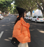 Thick Solid Short Style Cotton Padded Parkas Coat