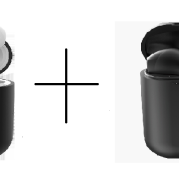 wireless Bluetooth headset and case