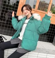 Large fur collar cotton coat