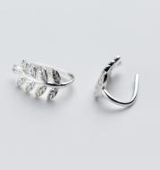 Leaf  short earrings