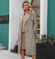Woolen plaid coat