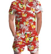 Summer short-sleeve jumpsuit Hawaiian Drink
