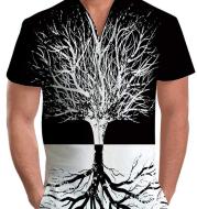 Summer short-sleeve jumpsuit Hawaiian Tree