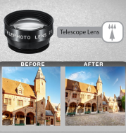 Universal 5 in 1 Clip-On Cell Phone Lens Kit Fisheye Wide Angel Macro Telephoto CPL Lens for iPhone for Xiaomi for Huawei