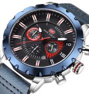 Luminous waterproof leather watch