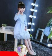 Plus velvet thick children dress